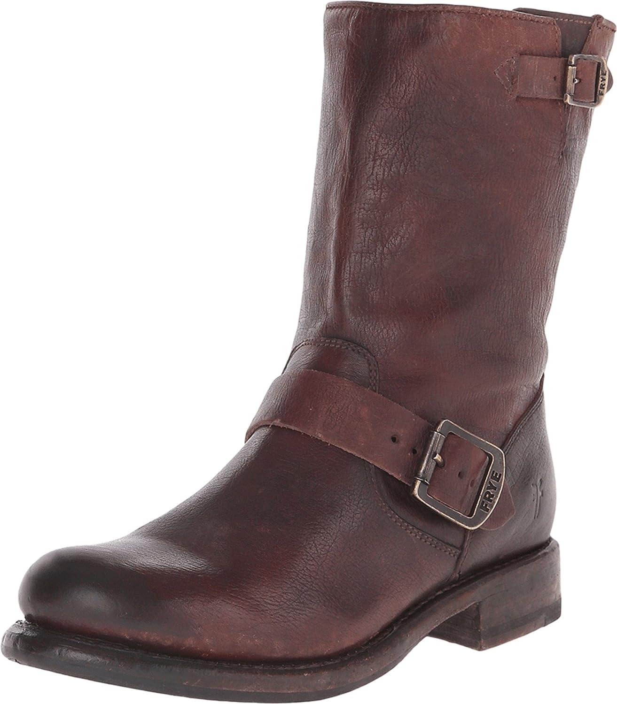 FRYE Women's 'Jenna Engineer' Boot B00SSS236K 6 B(M) US,Dark Brown Stone Antiqued