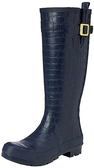 Joules Women's Crockington Rain Boot, French Navy, 8 M US