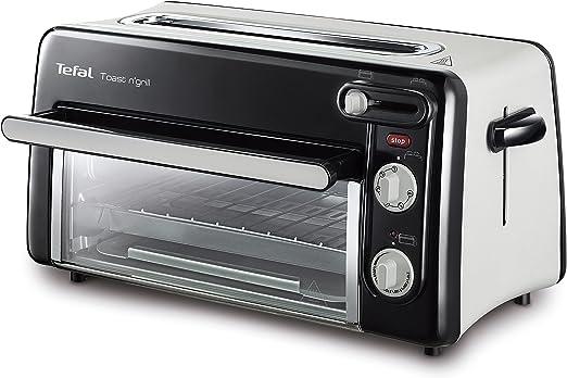 Tefal Toast & Grill TL6008 - Tostador y horno, 2 en 1, potencia 1300 W, 1 ranura larga, temporizador 10 min, termostato regulable hasta 220 C, Incluye ...
