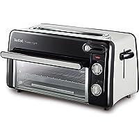 Tefal Tooast n' Grill TL6008 | 2-in-1 broodrooster en mini-oven | zeer energiezuinig en snel | 1300 Watt | zwart…
