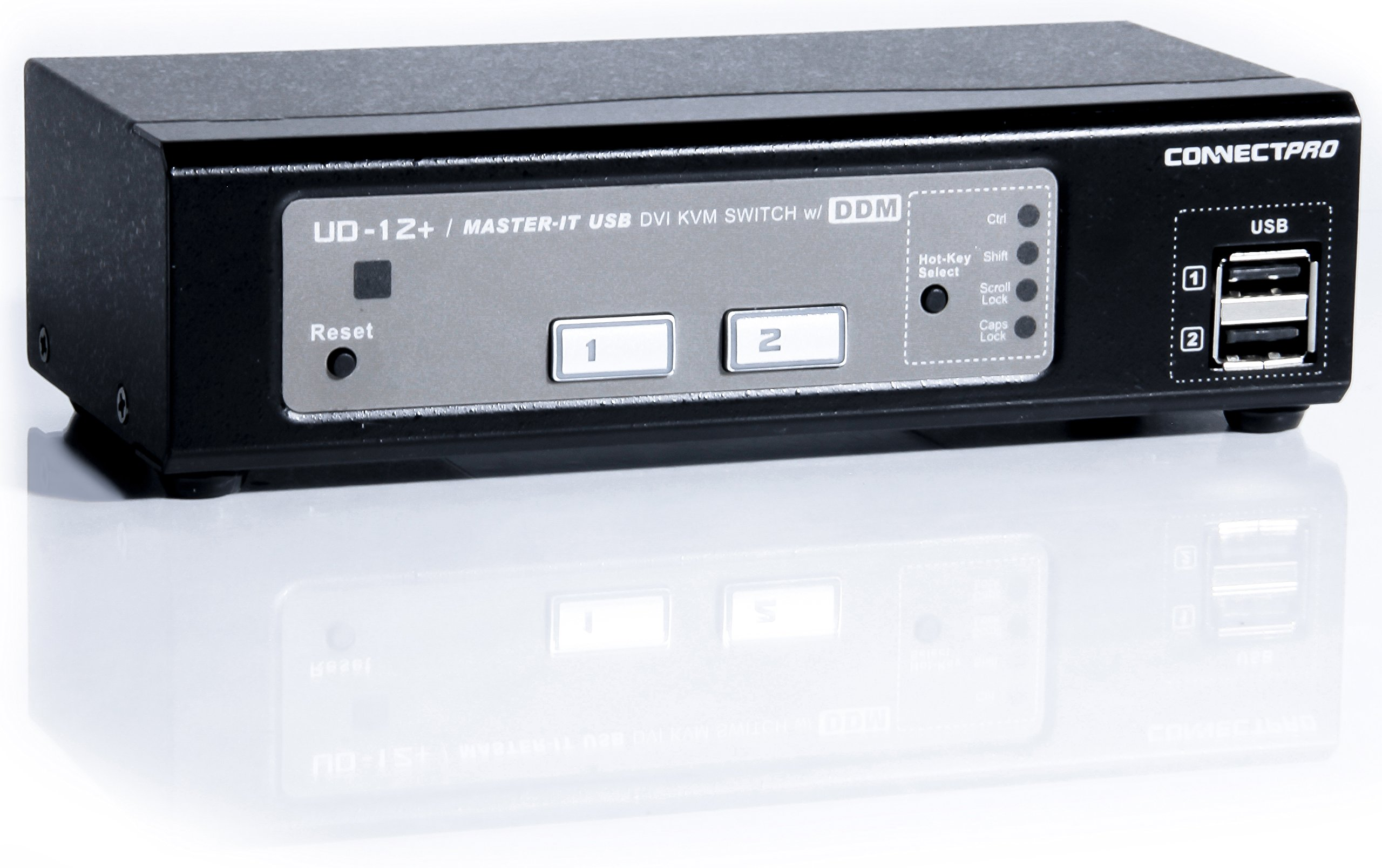 ConnectPRO UD-12+KIT, 2-port USB DVI KVM switch w/ DDM & multi-hotkey by ConnectPRO (Image #1)