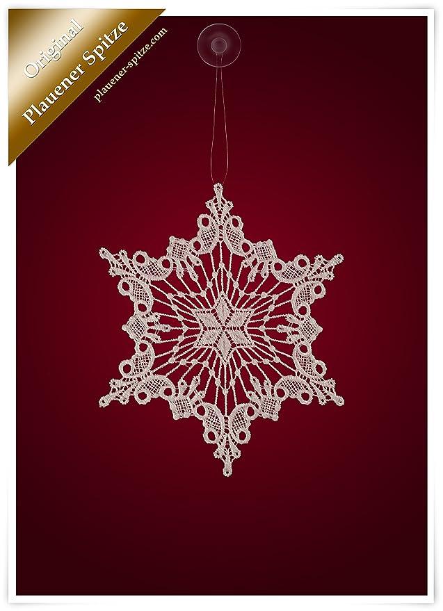 PLAUENER SPITZE ® 3er Fensterbild WINTER Baumbehang SCHNEESTERNE Weihnacht Stern