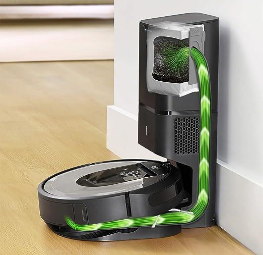iRobot Roomba i7+ (i7556) - Robot aspirador con Vaciado automático, aspiración de alta potencia y 2 cepillos, para mascotas, programa por habitación, limpia por objeto, sugerencias personalizadas: Amazon.es: Hogar