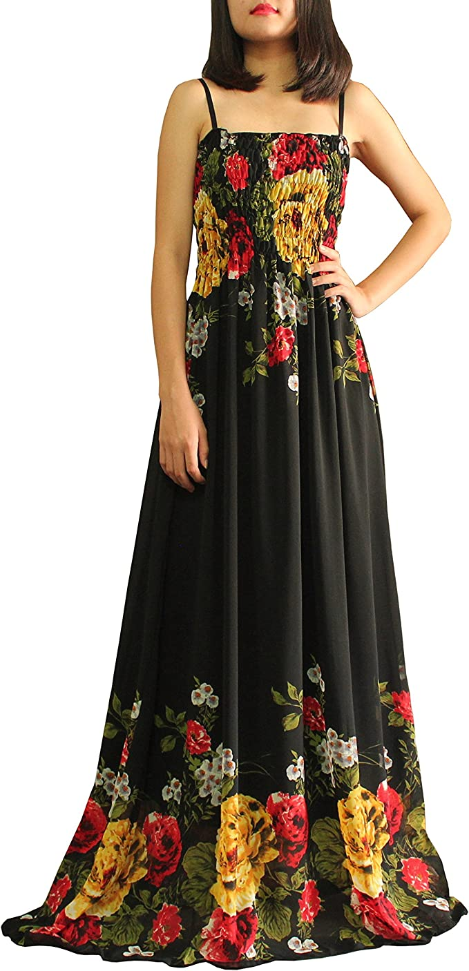 Extra Long Black Dress Women Clothings Maxi Party Chiffon Floral Plus Size  Boho