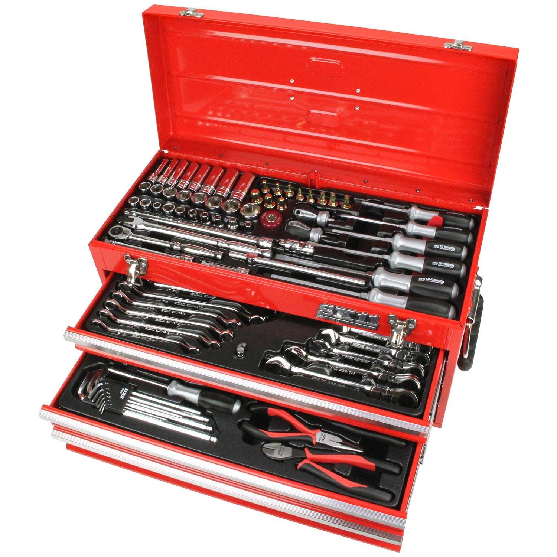 SK11 整備工具セット 133点組 レッド SST-16133RE レッド レッド B01IQUVZI6