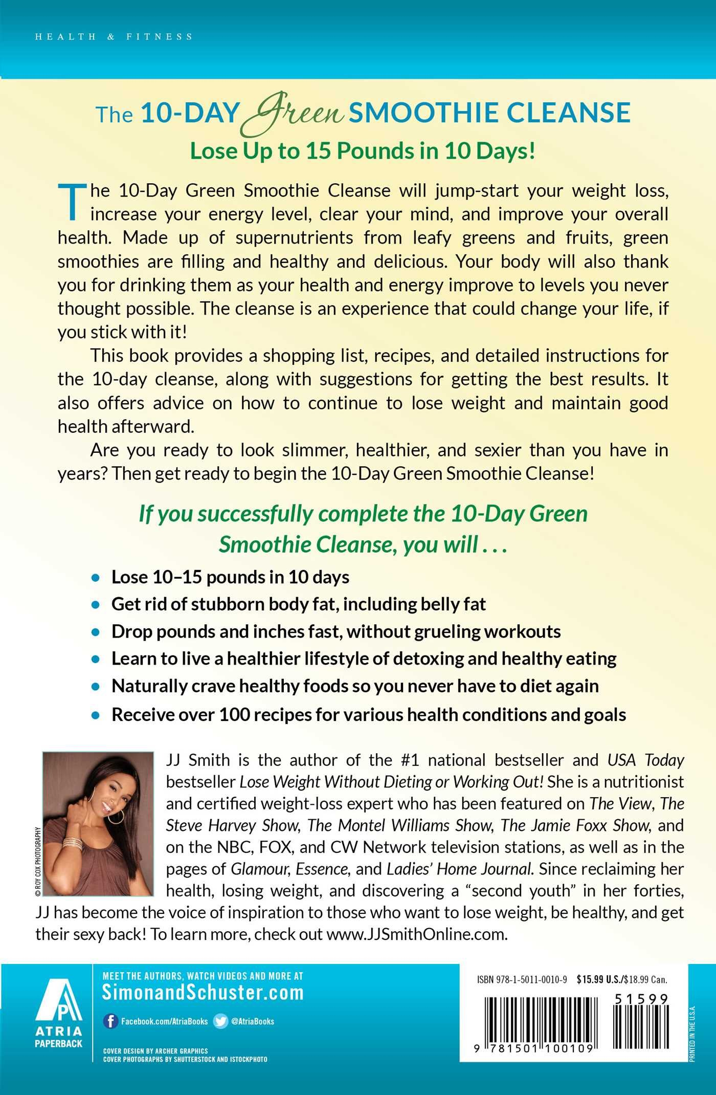 Amazon.fr - 10-Day Green Smoothie Cleanse: Lose Up to 15 Pounds in 10 Days!  - JJ Smith - Livres