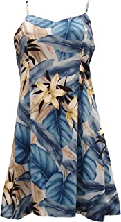 product image for Paradise Found Womens Orchid Jungle Princess Seam Mini Sundress in Blue - L