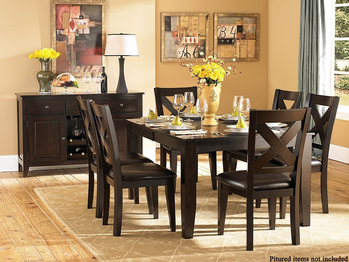 Amazon.com   Crown Point 5 PC Dining Table Set By Homelegance In Merlot    Table U0026 Chair Sets