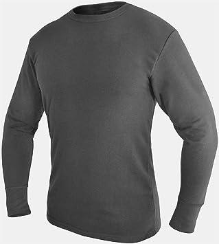 Bundeswehr Thermohemd Unterhemd langarm mit Innenfrottee Farbe Anthrazit  Größe 5
