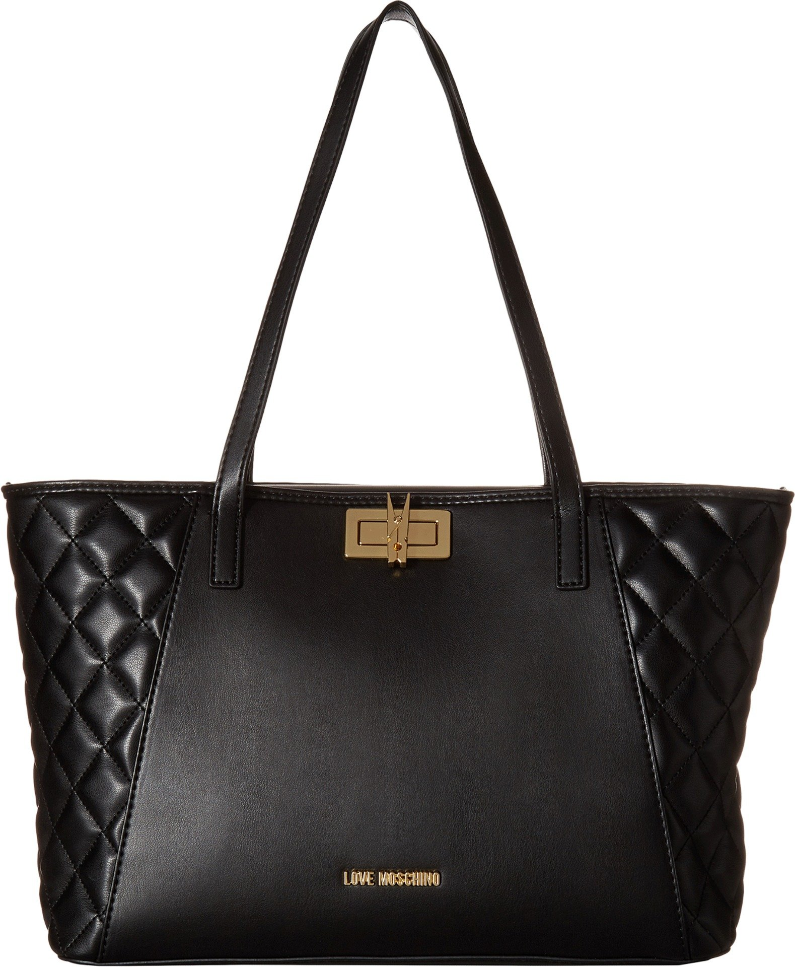 LOVE Moschino Women's Fashion Quilted Shopping Bag Black One Size