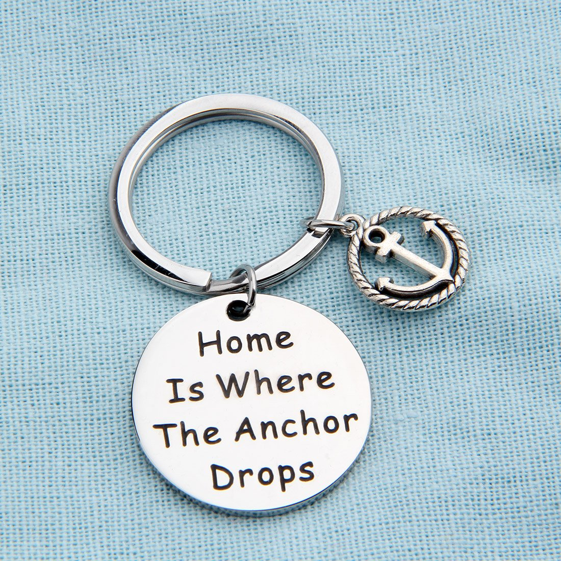 Zuo Bao Nautical Jewelry Anchor Keychain Home Is Where The Anchor Drops Ocean Jewelry Gifts (Keychain) by Zuo Bao (Image #3)