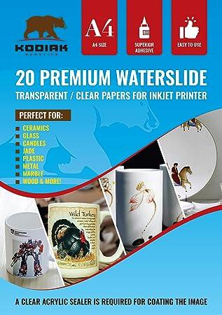 50 sheets CLEAR INKJET waterslide decal transfer paper