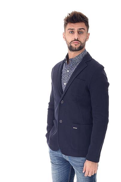blu guess giacca uomo