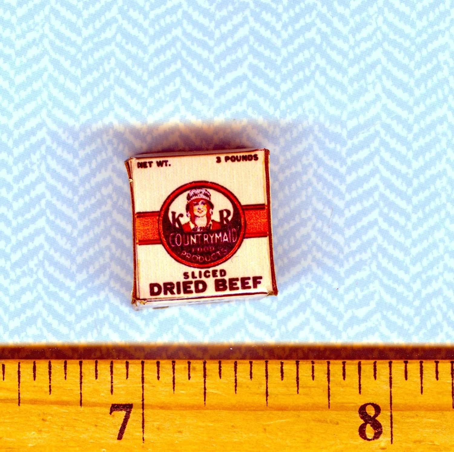 Dollhouse Miniatures Size Victorian Meat My Mini Fairy Garden Dollhouse Accessories for Outdoor or House Decor Dried Beef Box