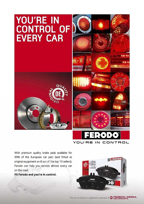 Ferodo FDB956 Brake Pad Set, disc brake - (set of 4)