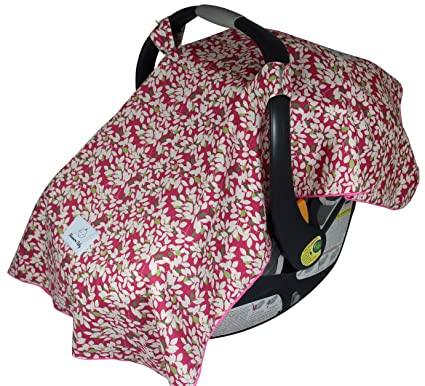 Fleece Lined Shannon Baby Car Seat Cover Lined With Ultra Soft Minky
