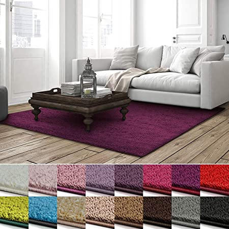 Hochflor Wohnzimmer Life Shaggy  Teppich Florhöhe 3 cm  verschiedene Farben