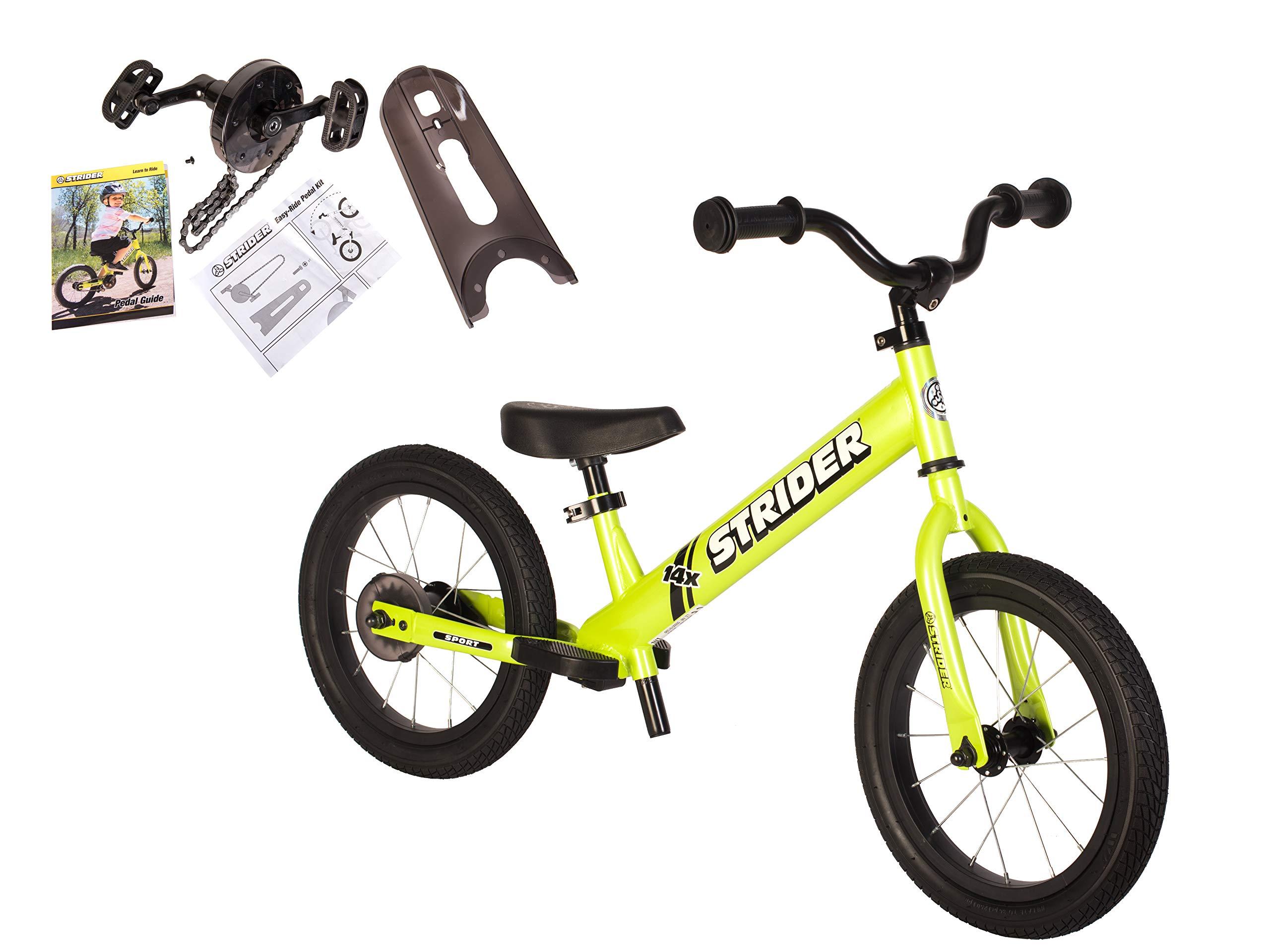 Strider - 14X 2-in-1 Balance to Pedal Bike Kit, Fantastic Green
