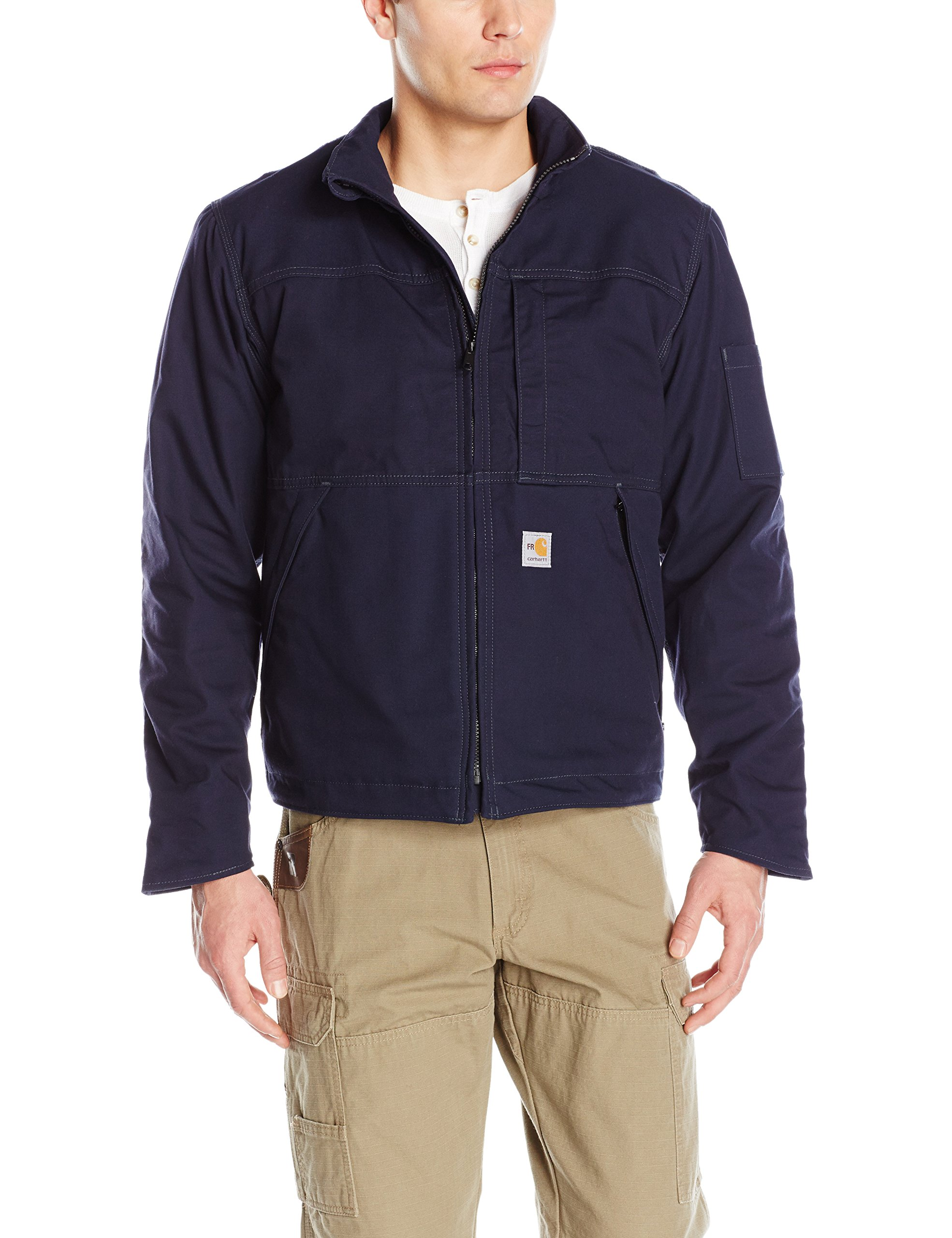 Carhartt Men's Flame Resistant Full Swing Quick Duck Jacket, Dark Navy, X-Large by Carhartt
