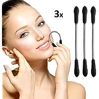 Oramics Silk Haarentferner für eine präzise Gesichtshaarentfernung z.B. bei Oberlippe, Kinn und Wangen (3er Set Schwarz)