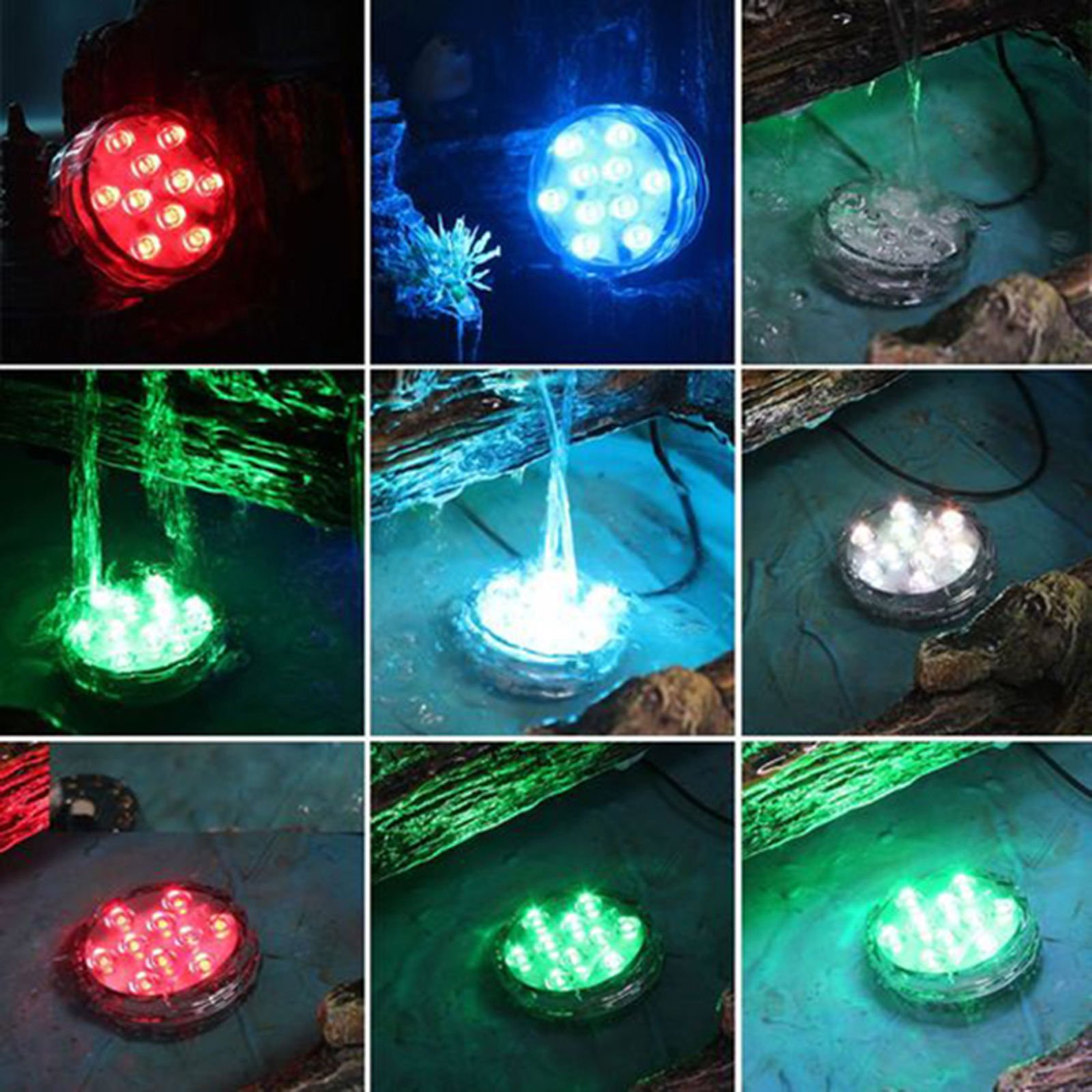 Alianelc Submersible LED Lights,Waterproof Underwater Remote Controlled Battery Operated Wireless Multicolor Submersible Led Lights for Holloween Pond,Christmas,Party,Wedding,Vase Base etc-Pack of 4.
