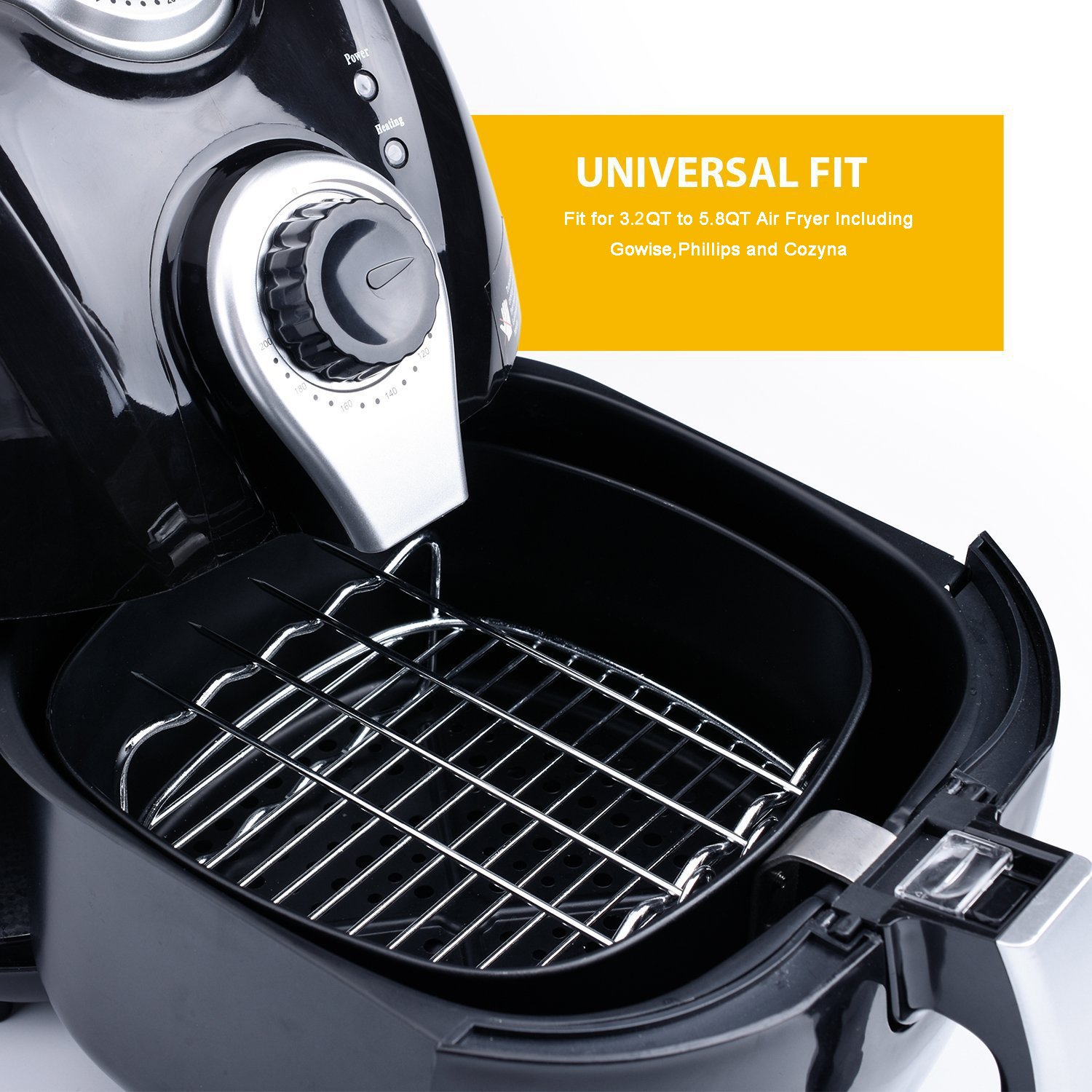 Universal Air Fryer Accessories for Phillips Gowise Cozyna etc, 5 Pcs of kit Fit all Standard Air Fryer 3.2-4.5QT by Findingdream (Image #4)