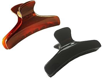 Parcelona French Flat Salon Shell Medium Jaw Hair Claw Clip