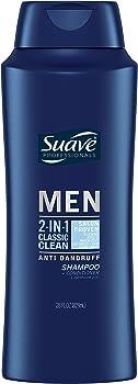 2-Pack Suave Men Classic Clean 2-in-1 Anti Dandruff Shampoo & Conditioner