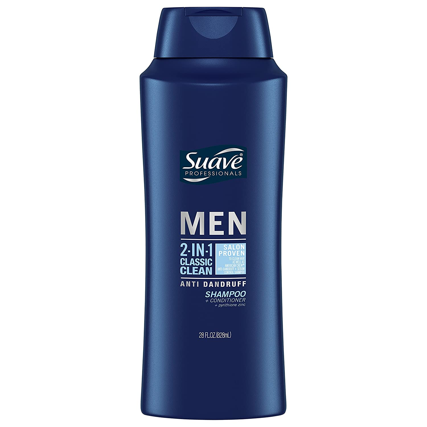 Suave Men 2in1 AntiDandruff Shampoo & Conditioner, Classic Clean, 28 oz