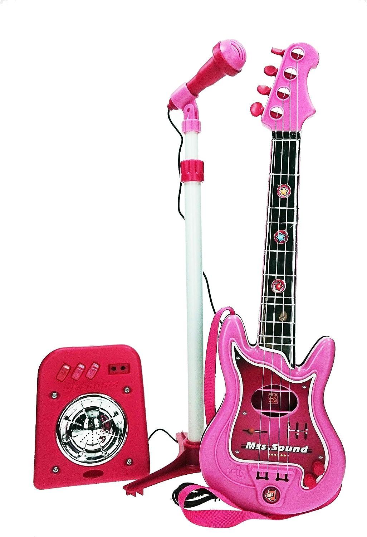 CLAUDIO REIG-Conjunto Flash micrófono + bafle + Guitar, Color Rosa (8441): Amazon.es: Juguetes y juegos