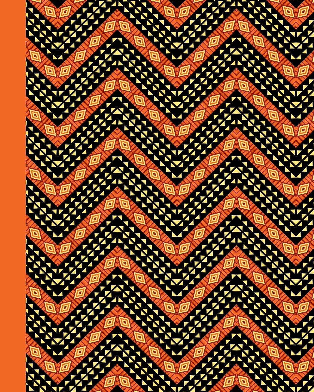 Amazon com: Sketch Journal: African Pattern (Orange) 8x10