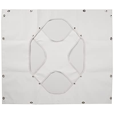 Belmor WF-1987-1 White Winterfront Truck Grille Cover for 1986-1996 Peterbilt 375, 377, 378, 379 (Long Nose Hood): Automotive