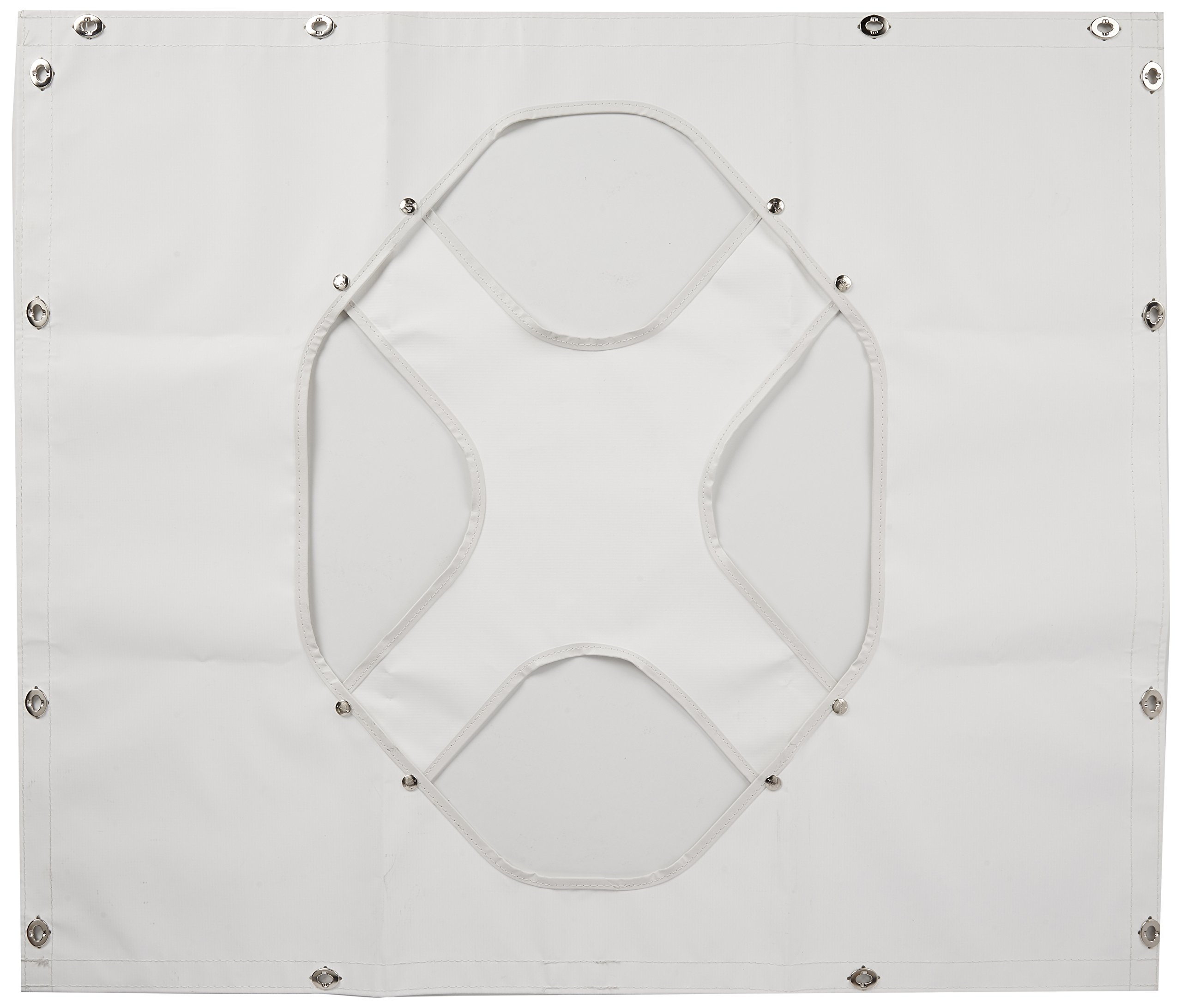 Belmor WF-1987-1 White Winterfront Truck Grille Cover for 1986-1996 Peterbilt 375, 377, 378, 379 (Long Nose Hood)