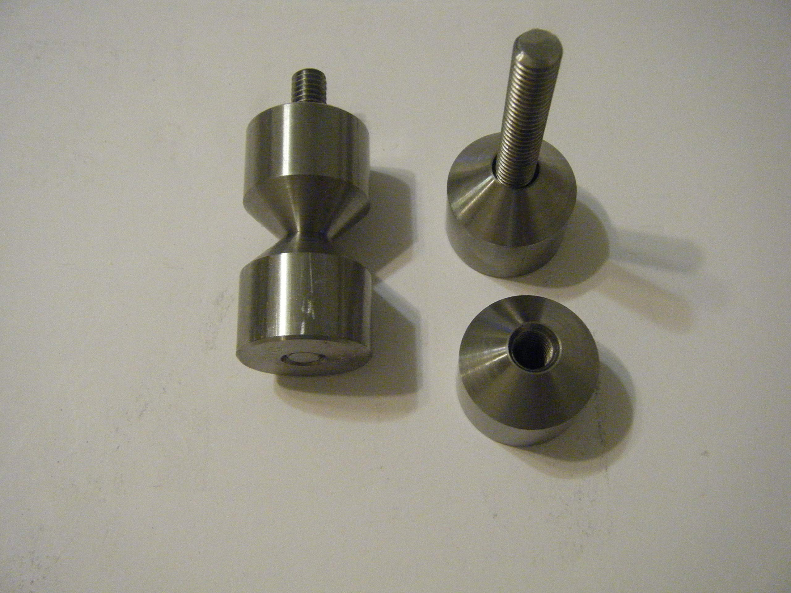 Davis 1 1/4'' Stainless Two Hole pin with 3/8''-16 Thread by Davis (Image #1)