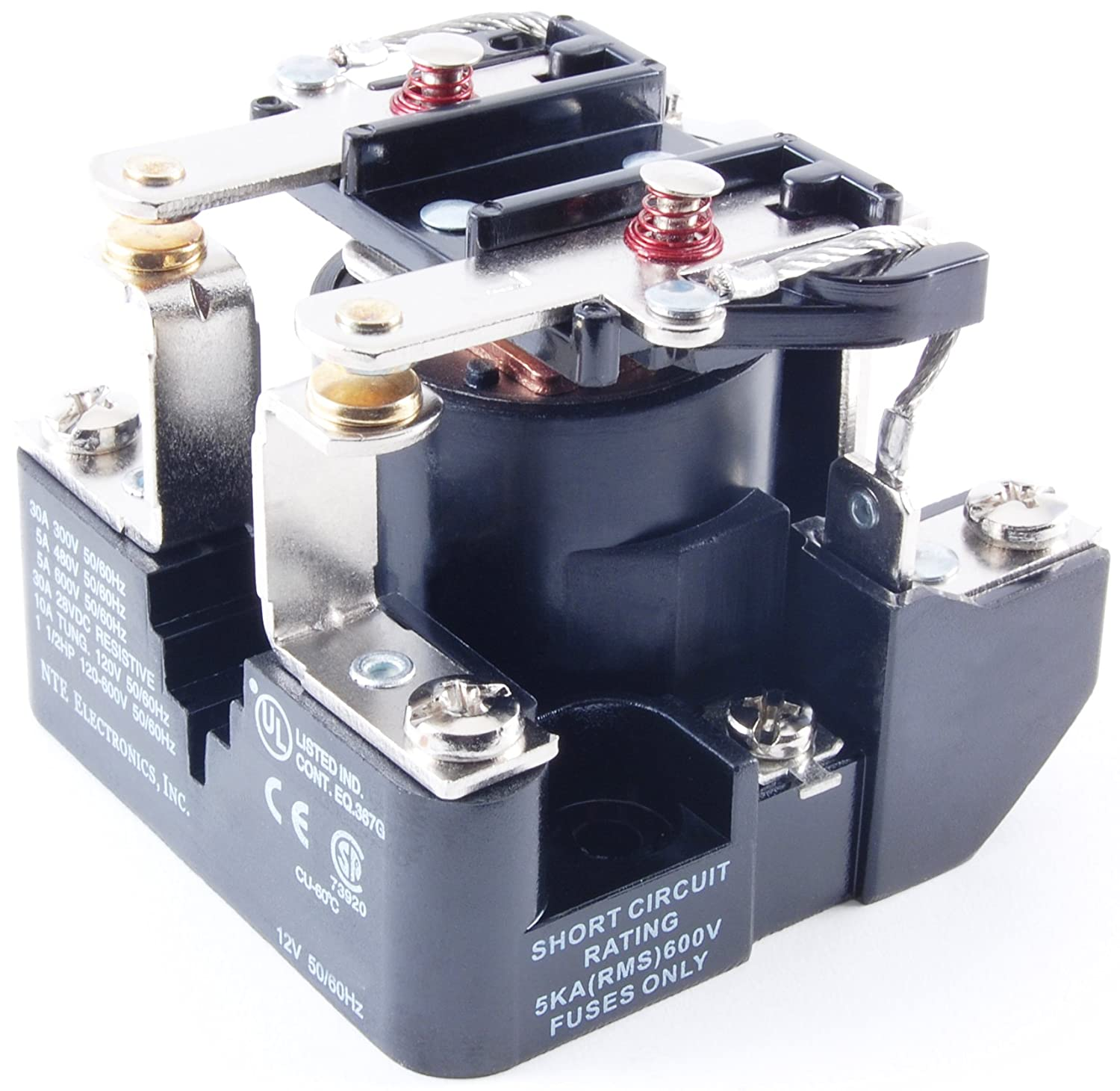 6 VDC Inc. NTE Electronics R06-11D10-6 Series R6 General Purpose Multicontact DC Open Frame Relay 10 Amp DPDT Contact Arrangement