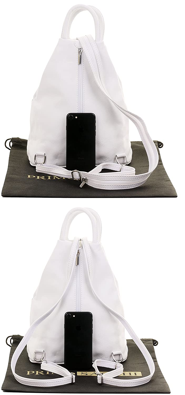 Primo Sacchi/® Soft Nappa in pelle top maniglia zaino spalla bag Include borsa di stoccaggio di marca protettiva