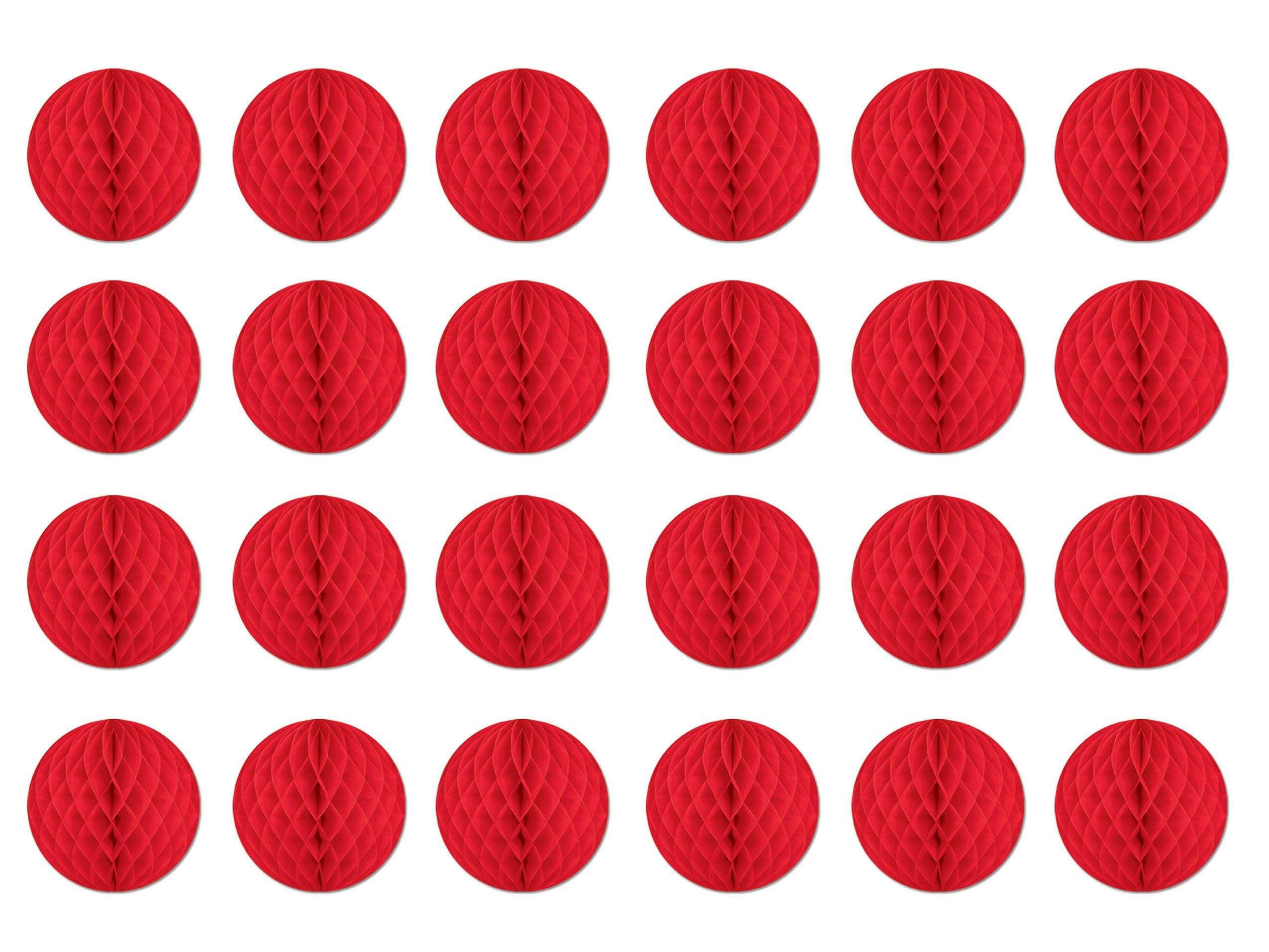 Beistle 55612-R 24-Piece Tissue Balls, 12-Inch