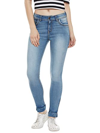 0e2885e42ceb1 Miss Chase Women s Blue Skinny Jeans  Amazon.in  Clothing   Accessories