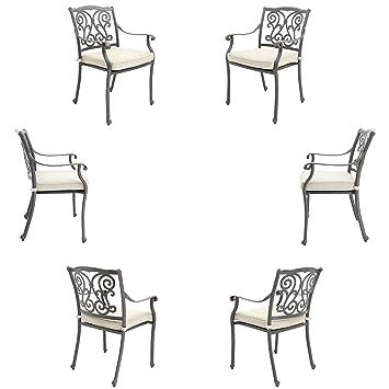 For Made Chaises En D'aluminium Résistant 6 Jardin Fonte Avec Us De YygfI6m7vb