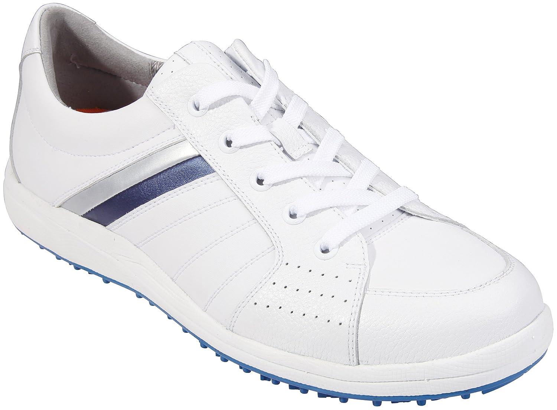 サウスポートメンズゴルフシューズスパイクsx0811 (ホワイト/シルバー/ブルー、6.5 )   B014J27DS6