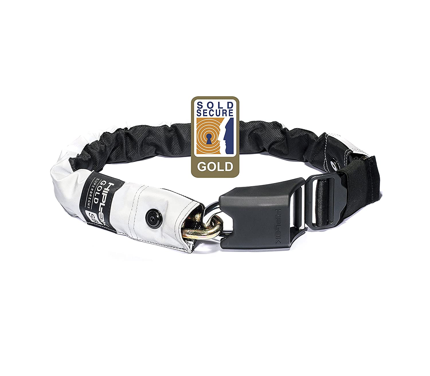Hiplok Gold Wearable Chain Bicycle Lock All Black 10 mm x 85 cm GLD1 AB