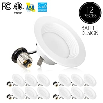 12 pack 4 inch dimmable led downlight 9w 65w replacement