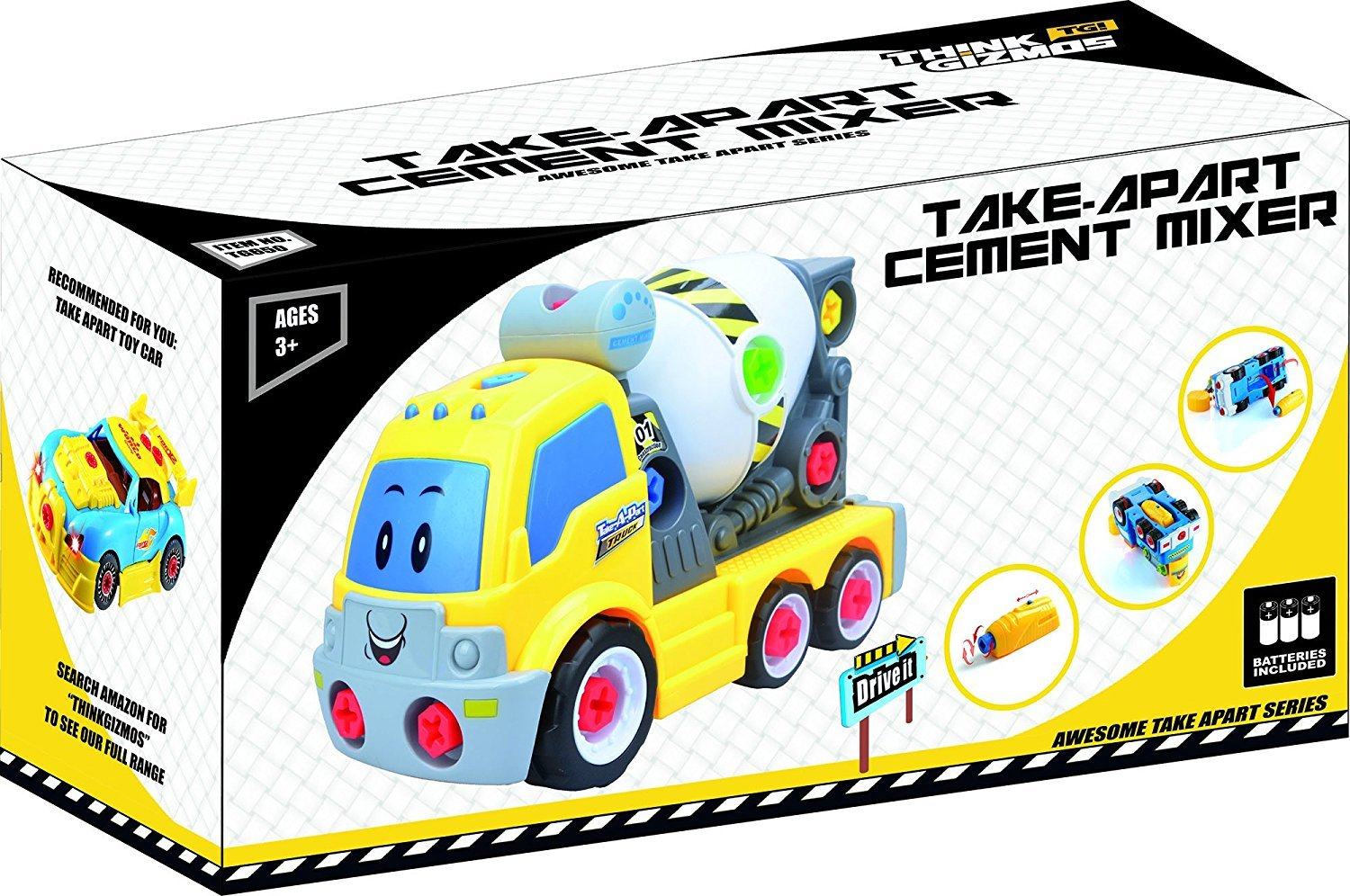 Think Gizmos Take Apart Toys Range Build Your Own Toy Kit For Boys No Disassemble Lego Ideas Proposal Makes It Easy To And Girls Aged 3 4 5 6 7 8 Cement Mixer Games