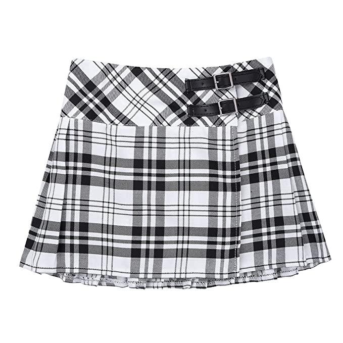 CHICTRY Niñas Falda Corta con Pliegues Escocesas a Cuadros de ...