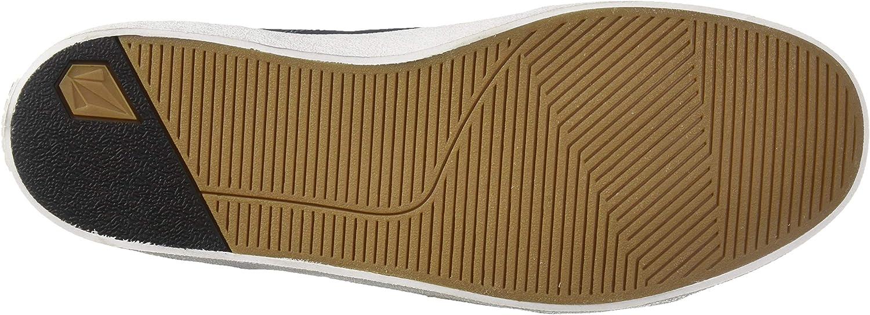 Volcom Men's Leeds Canvas Vulcanized Skate Shoe Slate Blue