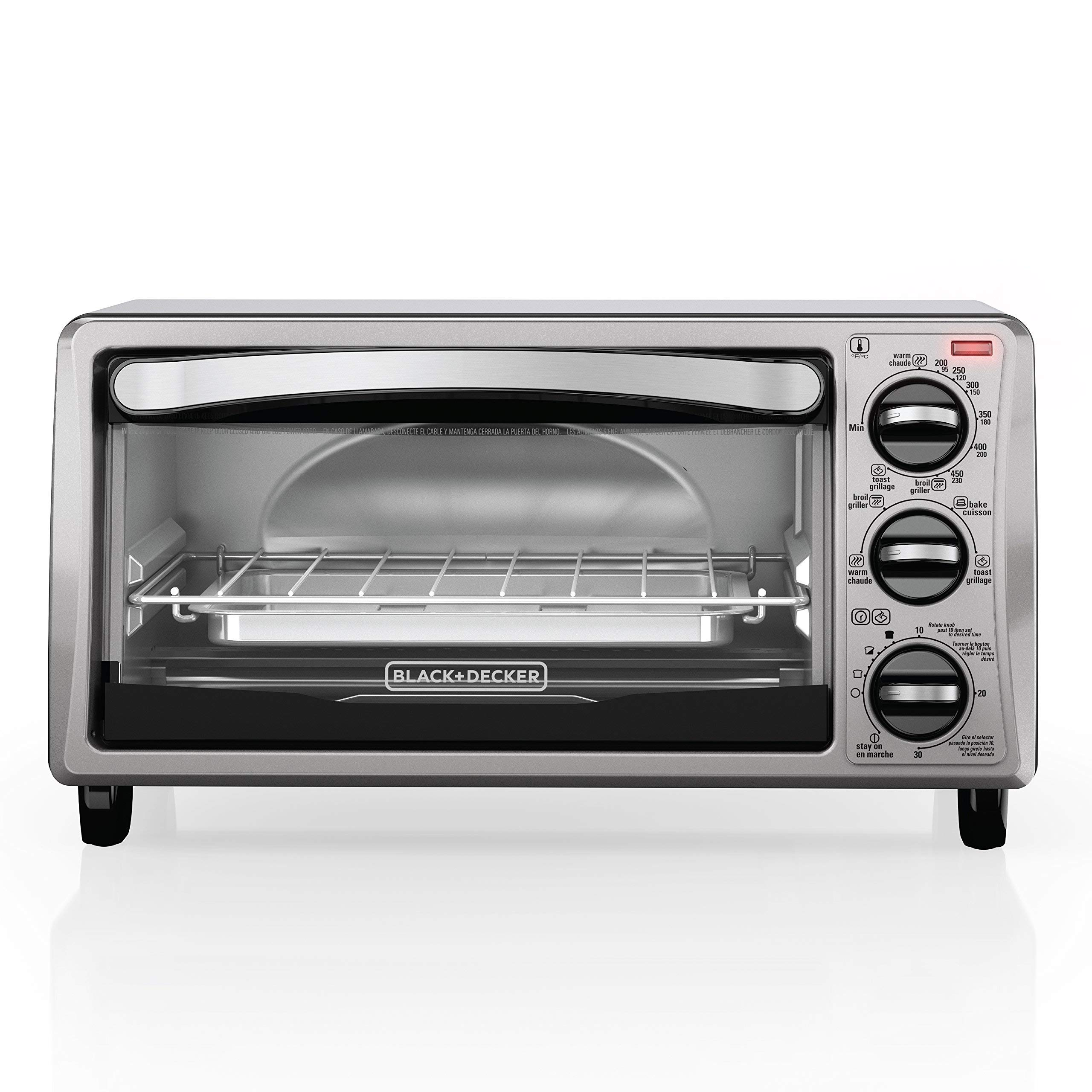BLACK+DECKER TO1313SBD Decker To1313Sbd 4Slice Toaster Oven, Black (Renewed) by BLACK+DECKER