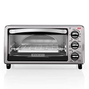 BLACK+DECKER TO1313SBD Decker To1313Sbd 4Slice Toaster Oven, Black (Certified Refurbished)