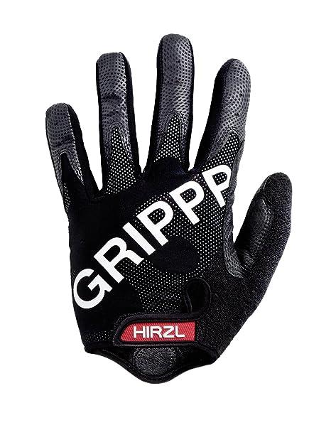 Hirzl Grippp FF - Guantes largos de ciclismo unisex, color negro, talla M: Amazon.es: Deportes y aire libre