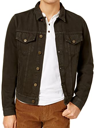 Tommy Hilfiger Mens Dyed Denim Button Down Jacket At Amazon Men S