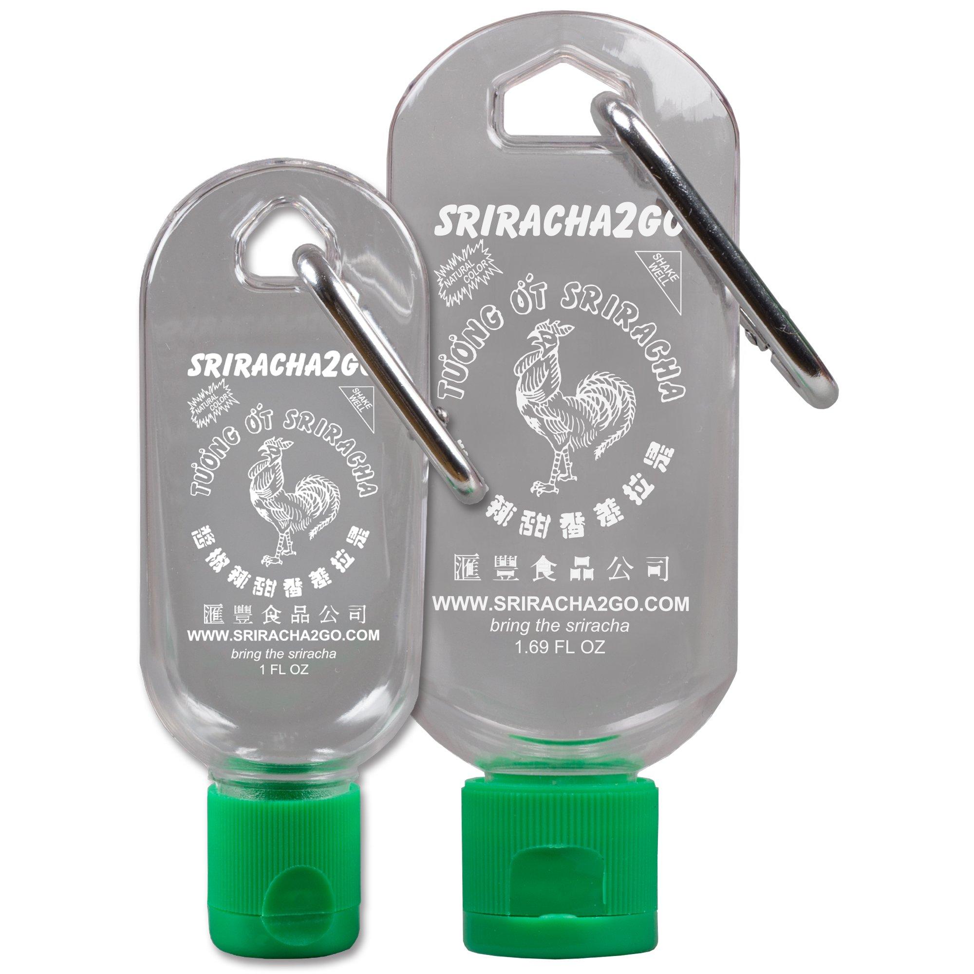 Sriracha Mini Keychain Combo Pack - 1.69oz Original Sriracha2Go and 1oz Mini-S2G (Shipped Empty)